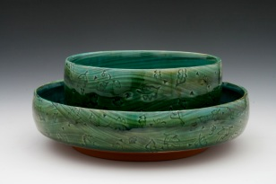 Emerald Stacking Bowl Set