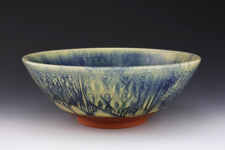 Bowl with Persian Vine Pattern