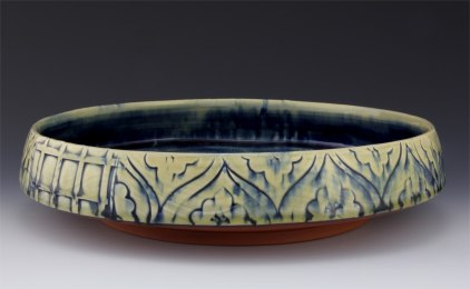 Serving Bowl with Cobalt