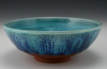 Serving Bowl with Lotus Pattern