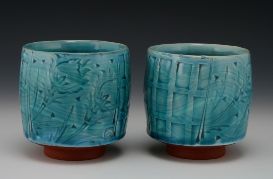 Copper Blue Yunomi