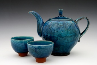 Sapphire Blue Tea Set