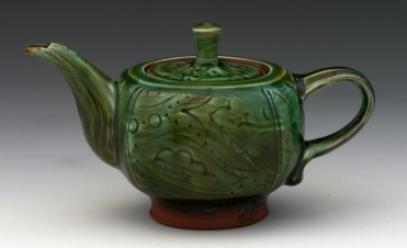 Emerald Green Squared Teapot